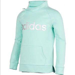 Adidas Girl's Turquoise Cowl Neck Sweatshirt